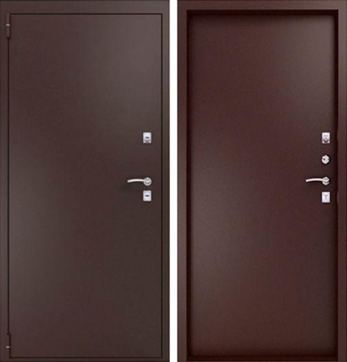 входные двери два листа металла