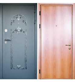 клинские двери металлические с ковкой