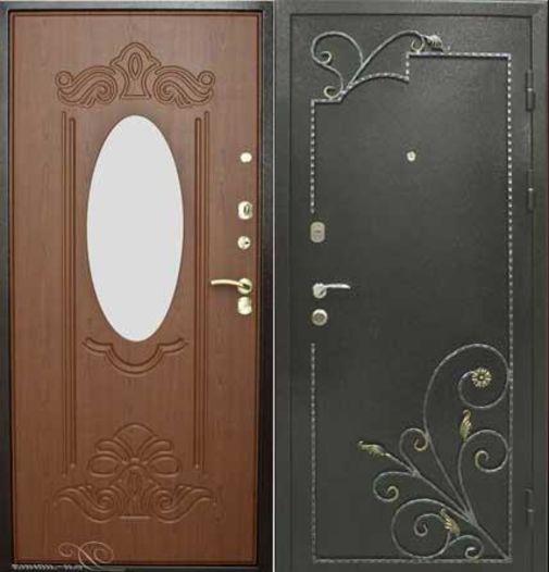 металлические двери тяжелые с зеркалом от производителя