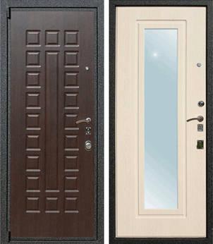 стальные двери с зеркалом внутри от производителя